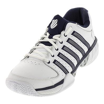 K-Swiss Hypercourt Express LTR Mens Tennis Shoes (White/Navy/Silver)