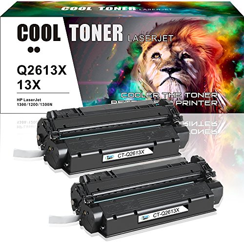 Cool Toner 2Packs Compatible Q2613X 13X Toner Cartridge for Laser 1300 1300N 1005 1200 3330 Printer 1320 1320n Toner 1200 Toner Cartridge 3300 3320n 3320 3330 MFP Printer Black (Hp 3320)