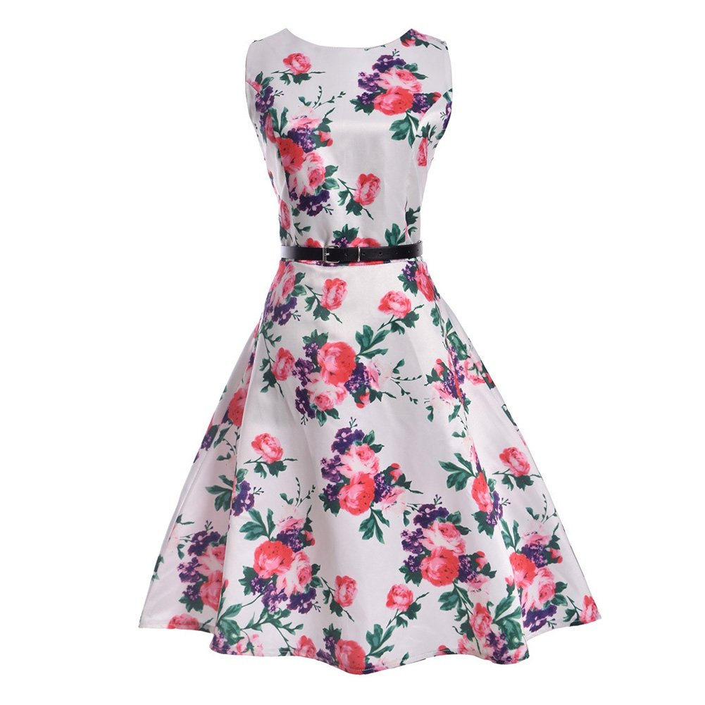 ETOSELL 1950s Vintage Dresses For Women, Summer Cocktail Party Dresses at Amazon Womens Clothing store: