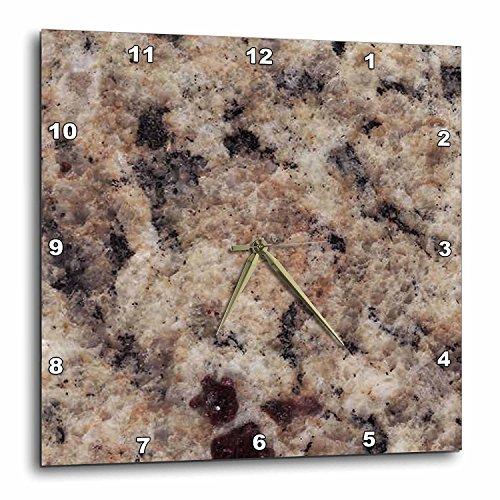 (3dRose DPP_97961_1 Napoli Venetian Gold Granite Print-Wall Clock, 10 by 10-Inch)