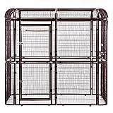 Sliverylake Big Walk-in Bird Aviary Cage Parrot Macaw Reptile Luxury Design (Brown)