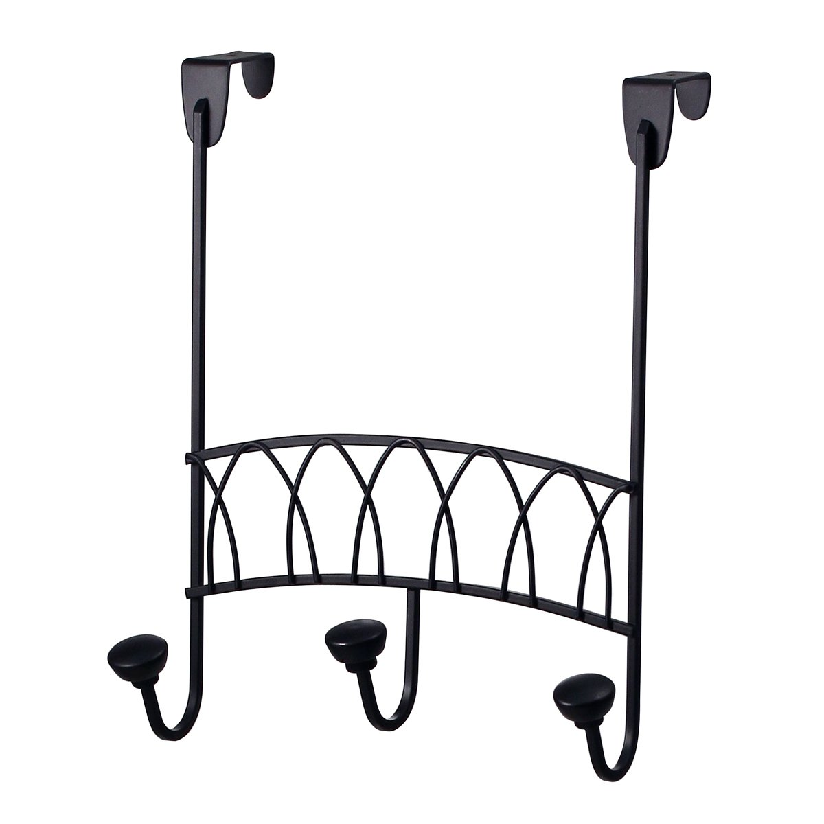 Spectrum Diversified Twist Over The Door 3 Hook Rack, Black 88810