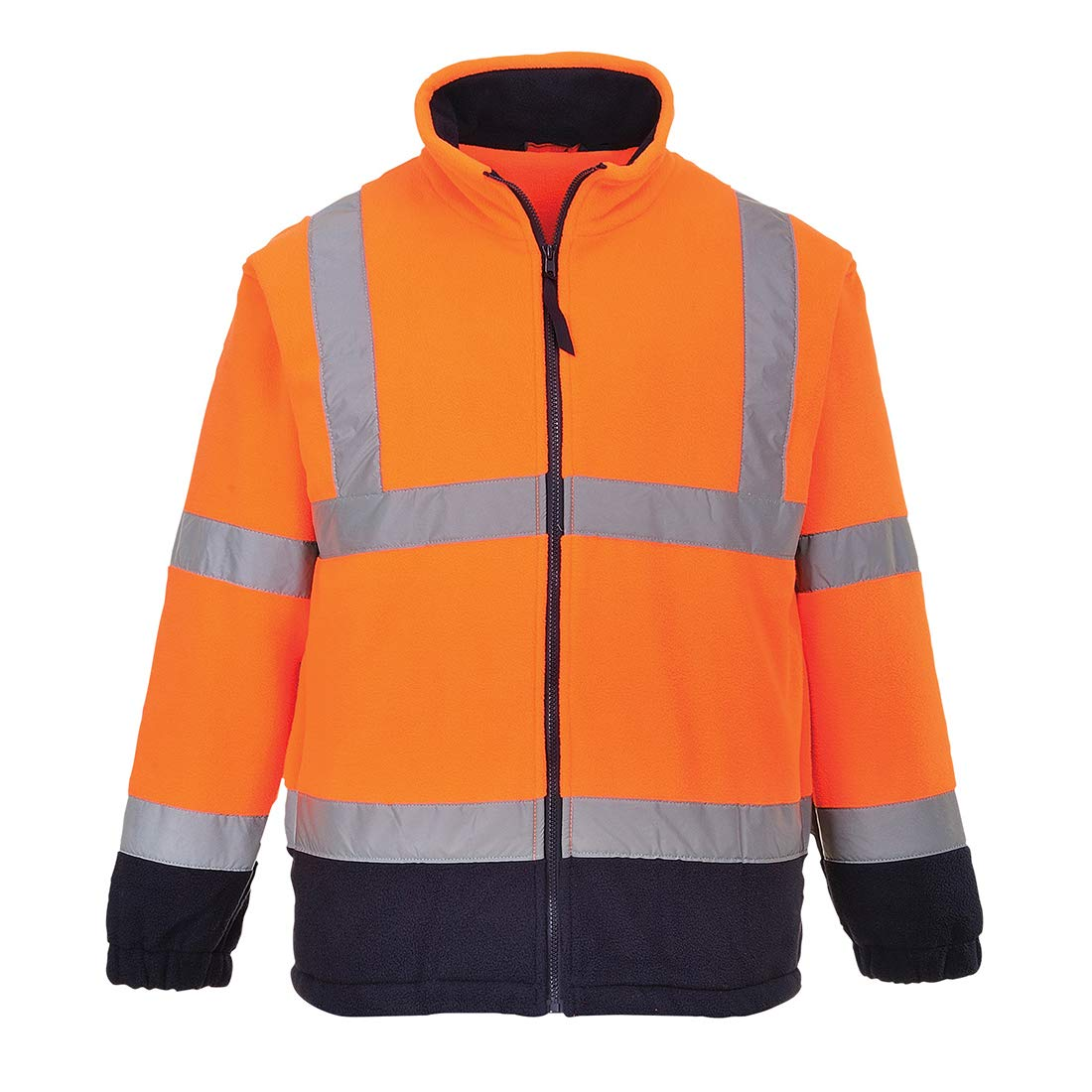 XX-Large Portwest F301ONRXXL Hi-Vis Two Tone Fleece Orange Regular