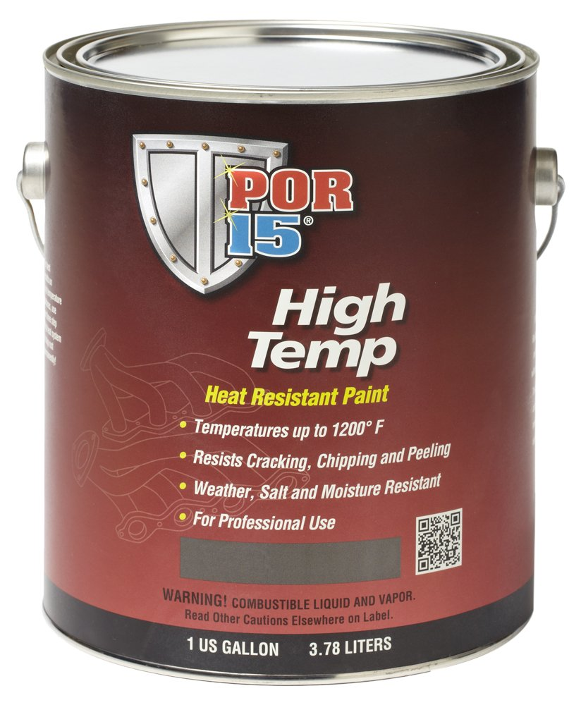 POR-15 44101 Black High Temperature Paint Flat - 1 gal