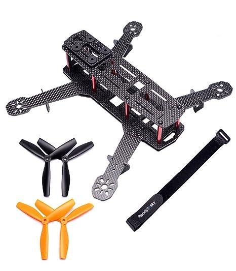 Amazon.com: Readytosky 250mm FPV Racing Drone Frame Carbon Fiber ...
