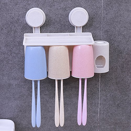 Portable Toothbrush Cup Toothbrush Holder Toothpaste Dispens