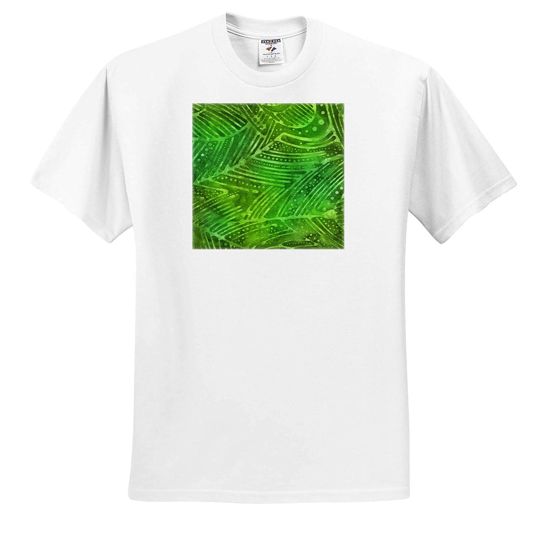Adult T-Shirt XL Green Leaves Image of Batik Pattern ts/_308786 Patterns 3dRose Anne Marie Baugh