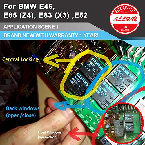 2PCS Genuine Tyco V23084-C2001-A303 Automotive Relay For BMW E46 3 5 7 Series GM5 Module ()