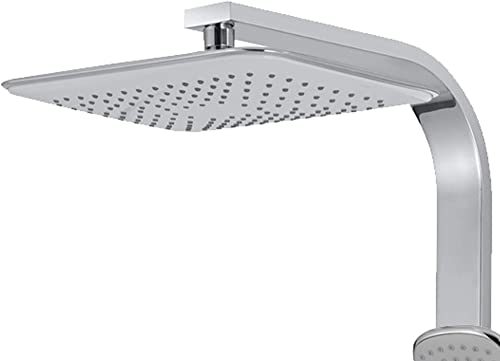 PULSE ShowerSpas 7004-CH Monte Carlo Shower System with 11.5 Rectangular Rain Showerhead, 5-Function Hand Shower, Polished Chrome Finish