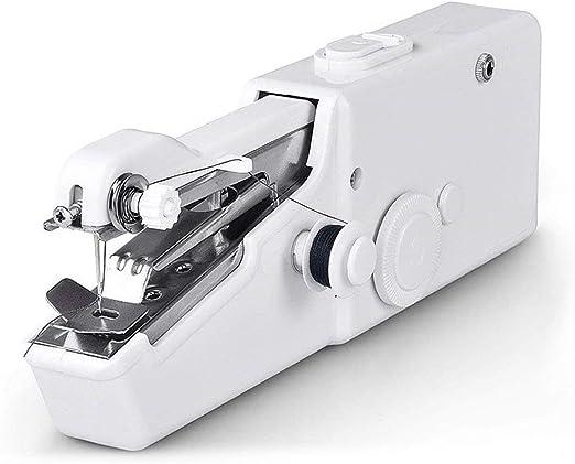 Máquina de coser portátil de mano Puntada práctica blanca Mini máquina de coser eléctrica multifunción Accesorios enviados aleatoriamente (blanco): Amazon.es: Hogar