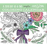 Coloring Calendar 2018 Day-at-a-Time Box Calendar