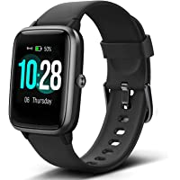"""Lintelek Smart Watch with 1.3"""" LCD Full Touch Screen, Large Screen Fitness Tracker with Heart Rate Monitor, Pedometer…"""
