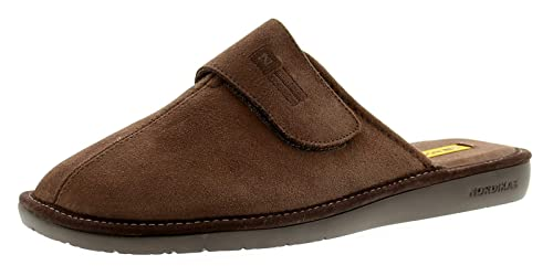 e3ec8ce9c22 Nordikas 375 Suede (Afelpado) Mens Leather Mule Slippers Beige - Beige - UK  Size