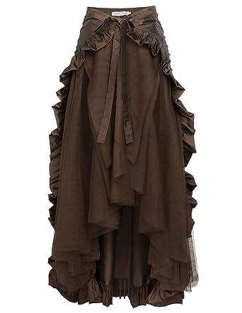 4d9e914cd Women's Steampunk Gothic Skirt Victorian Ruffles Pirate Skirt Wrap ...