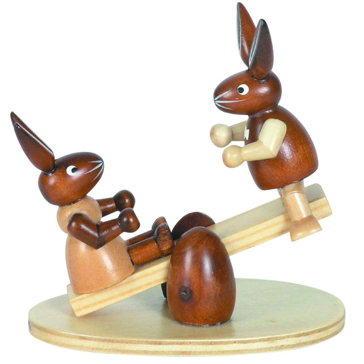 Großes Osterhasenpaar 42cm Erzgebirge Handarbeit Hasen-Paar Osterhasen Osterhase