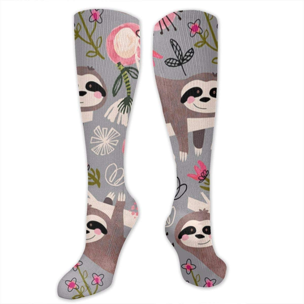 Large Mens Colorful Dress Socks Funky Men Multicolored Pattern Fashionable Fun Crew Cotton Socks Chanwazibibiliu Lovable Sloths