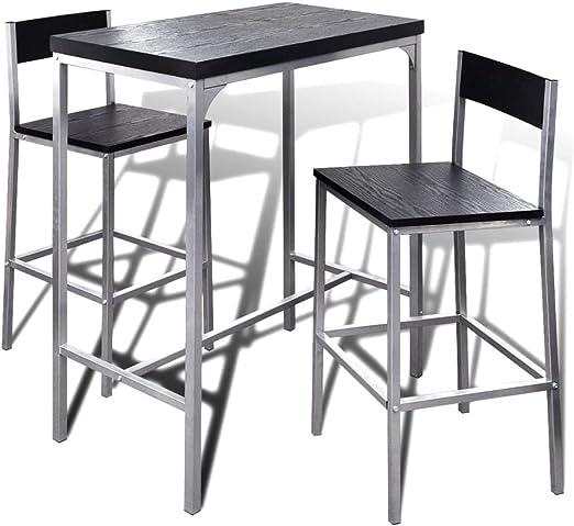 Set de mesa y dos taburetes altos de bar para cocinas y salones de ...
