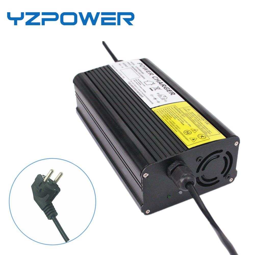 YZPOWER 58.8/V 5/A Litio Li-Ion Li-Poly Cargador de Bater/ía para 14/Series 48/V 5/A El/éctrico Bicicleta RCA Plug