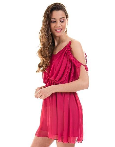 7732ff85a Guess Mono Vestido Fiesta Rosa Marciano (Rosa - 42)  Amazon.es  Ropa ...