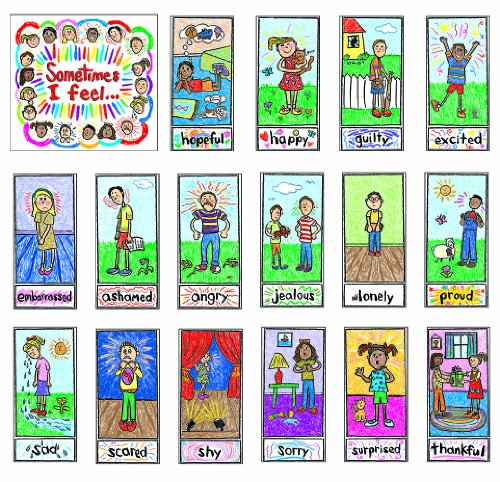 Carson Dellosa Kid-Drawn Emotions Bulletin Board Set (3250) - Kid Drawn Classroom
