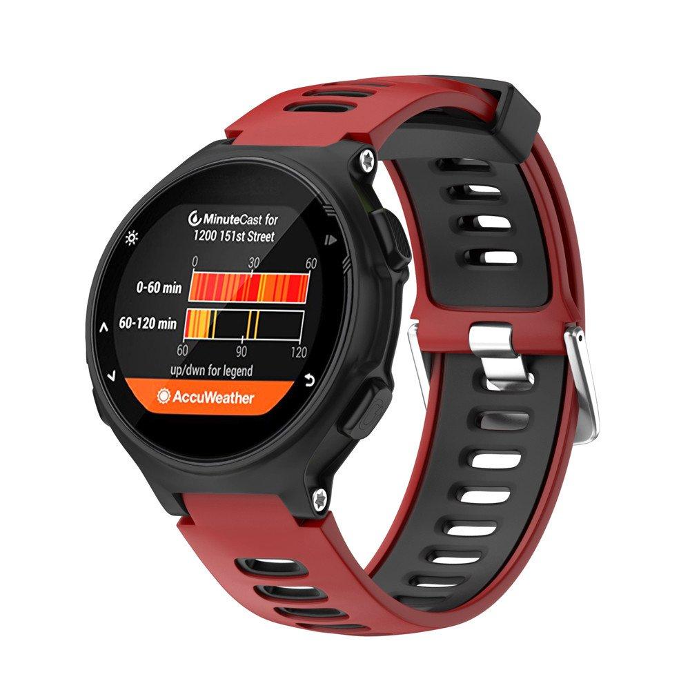 Noir Fcostume Bracelet pour Compatible pour Compatible pour Compatible pour Garmin Forerunner 735XT,Bracelet de Mtre en Silice Souple pour Forerunner 735xt Bracelet