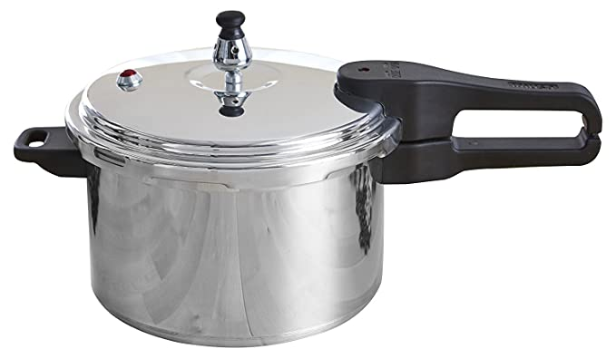 IMUSA USA Stovetop Aluminum Pressure Cooker Silver (7 Quart)