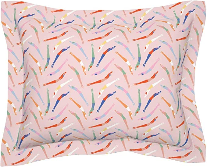 The Pillow Collection Echuca Bicycles Bedding Sham Confetti European 26 X 26 Decorative Pillows Inserts Covers Throw Pillow Covers