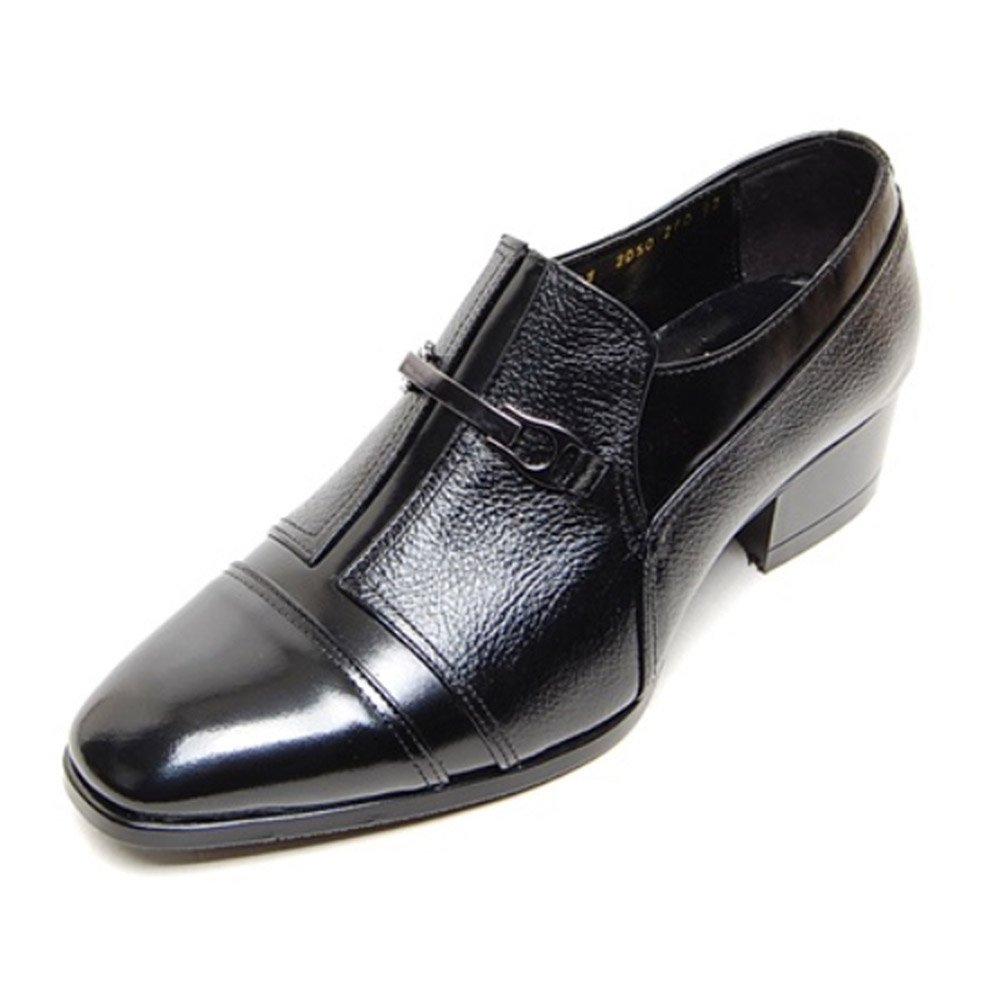 EpicStep Men's Black Genuine Leather Shoes Stylish Dress Formal Business Casual Oxfords Loafers 6 M US