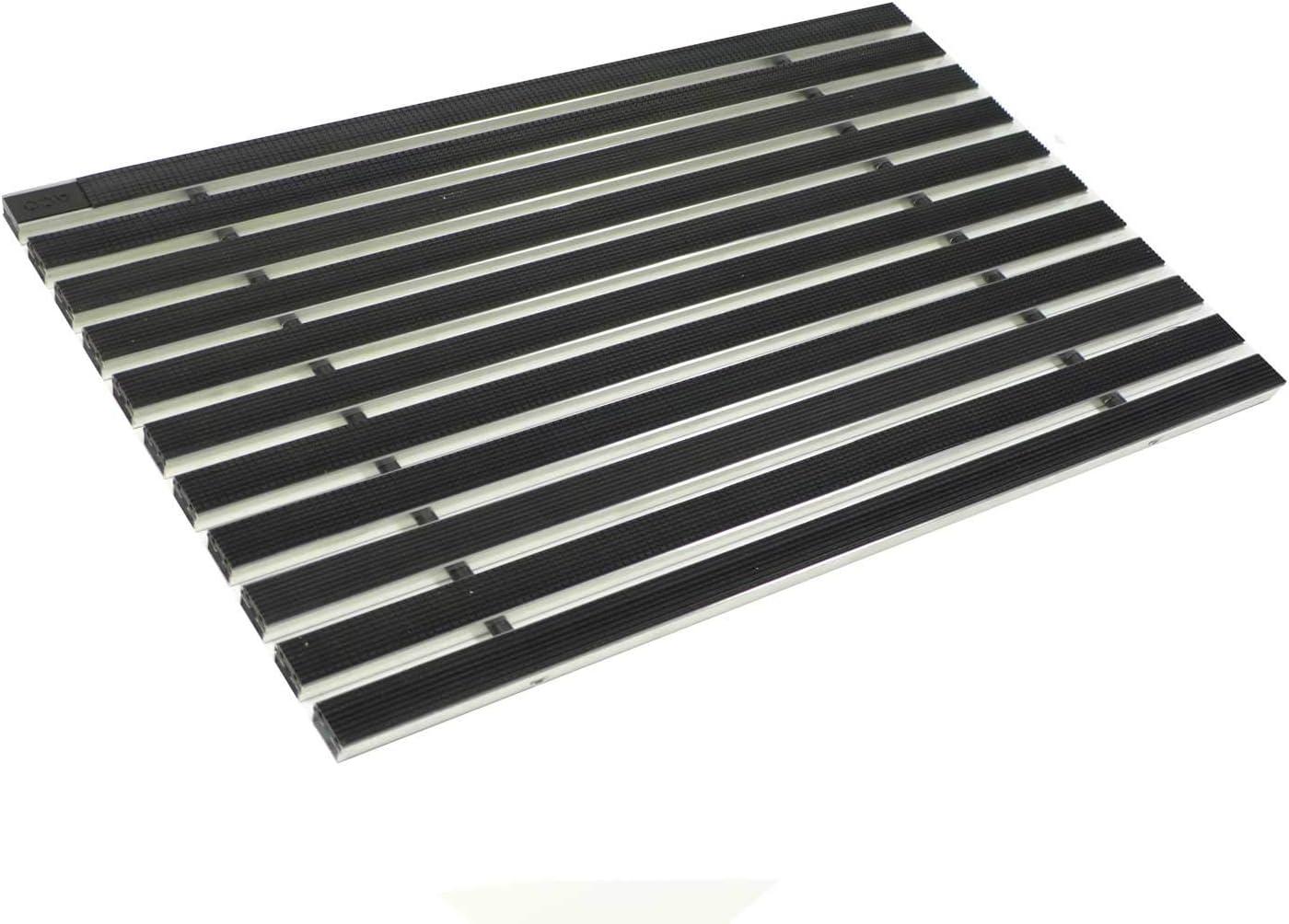 ACO Eingangsmatte 100x50 Gummi schwarz mit ALU Winkelrahmen Fußmatte Türmatte Ab