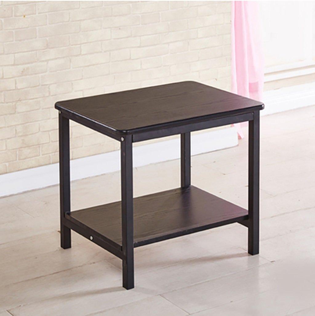 創造的なソファのサイドテーブルいくつかのベッドサイドテーブルダブルストレージコーヒーテーブルいくつかのコーナー単純な固体木製の鉄小さなテーブルサイズ:40 * 50 * 50センチメートル (色 : A) B07F83M3J3 A A