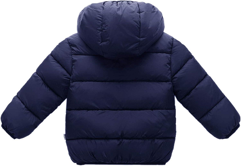 Evelin LEE Baby Girls Boys Winter Warm Coat Hooded Outwear Jacket Fleece Lined Snowsuit
