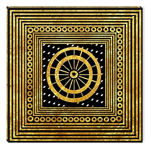 Startonight Canvas Wall Art Gold Arabic Pattern, Gold USA Design for Home Decor, Dual View Surprise Artwork Modern Framed Ready to Hang Wall Art 31.5 X 31.5 Inch 100% Original Art Painting! by Startonight