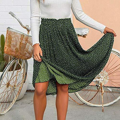 Femme Dot Party Taille Mode Fille Femme BohMe Jupe Long Imprim Vert SoirE Maxi Pliss LULIKA LGante Vintage Jupe Swing Haute Polka PqgPwd