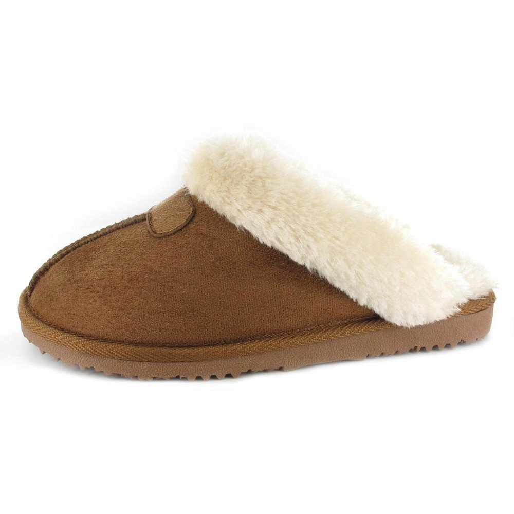 af939a9fd82d1 Ella - Ella Jill Super Soft Slipper Mules Faux Fur Chestnut - ell-jil-che -  UK 8