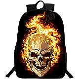 GIM Backpack Bags, Fashion Schoolbag Travel Camping Casual Daypacks Cool Skull Printing School Backpack Rucksack Back Pack Fits Laptop