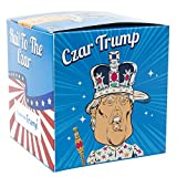 Donald Trump Toilet Paper / Custom Colorful Gift Box / Funny Trump Caricature In An Emperor Crown and Robe / Single TP Roll / BONUS Trump Sticker