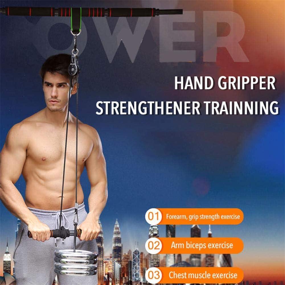 entrenamiento de fuerza de brazo sistema de polea de trabajo pesado Equipo de entrenamiento f/ísico para gimnasio en casa Entrenador de rodillo de mu/ñeca de antebrazo