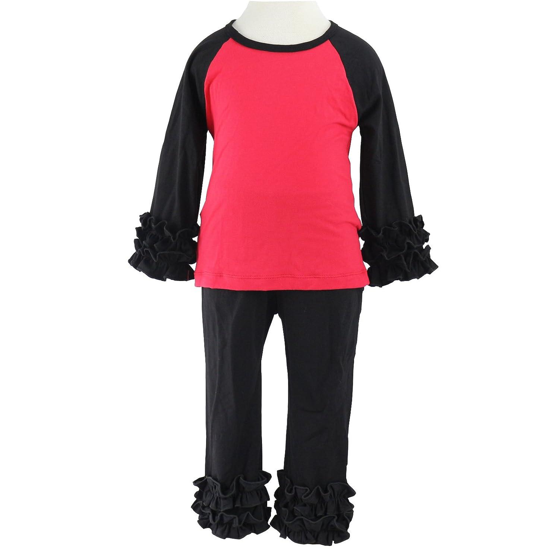 Wennikids Little Girls Long-Sleeve Ruffle T-Shirt