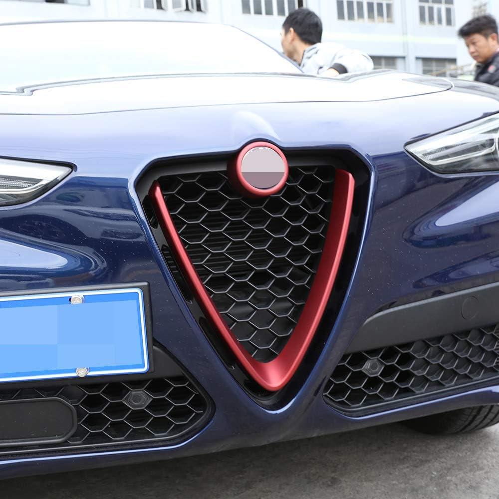 2 pezzi in plastica ABS per griglia anteriore decorazione telaio per Stelvio 2017 2018
