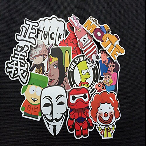 300pcs /lot Sticker Bomb Decal Vinyl Roll Car Skate Skateboa