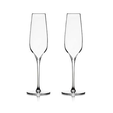 Nambé MT0951 Vie Champagne Flutes, Clear