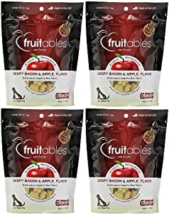 Fruitables Pet Foods Dog Treats Crispy Bacon & Apple 28oz (4 x 7oz)