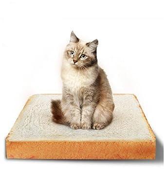 zrse mascotas colchón para gatos y perros pequeños rectangular de cojín, diseño tostada alfombrilla de
