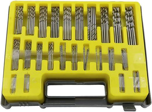 Espeedy 150PCS 0.4-3.2mm Juego de Brocas Pequeña Precisión con Estuche de Transporte Caja de Plástico Mini HSS Kit de Taladro de Mano Twist: Amazon.es: Hogar