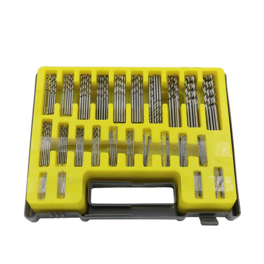 lzn 150 tlg HSS Mini Spiralbohrer, Micro Bohrer Set, Holzbohrer Handspiralbohrer Bohrersets Spiralbohrer-Set Handbohrer Drillbohrer Drill Set 0.4mm-3.2mm mit der Kasten