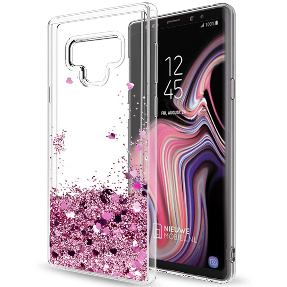 Galaxy Note 9 Coque Etui Glitter Case for Girls Women, LeYi Luxury Cute Clear Ultra Bling Liquid Quicksand TPU Protective Phone Tough Case Cover for Samsung Note 9 (2018 Released) CF Turquoise