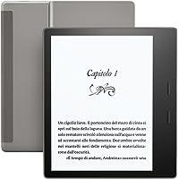 """E-reader Kindle Oasis - Grafite, resistente all'acqua, schermo da 7"""" ad alta risoluzione (300 ppi), 32 GB, connettività Wi-Fi + 3G gratuito"""
