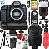 Canon EOS 6D Mark II 26.2MP Full-Frame Digital SLR Camera (Body Only) with BG-E21 Battery Grip Accessory Bundle