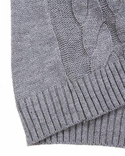 Elegante Lunga Zanzea Maglione Manica Grigio Pullover Invernale Crochet Casual Ufficio Maglia Donna xA1ZS