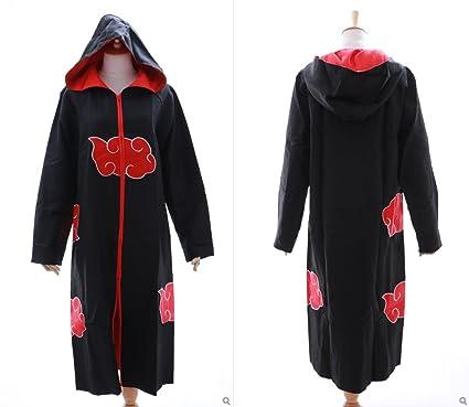 N-02 Akatsuki Naruto Sasuke Team Taka Cloak Cape Hooded Coat Cosplay Costume Kawaii Story
